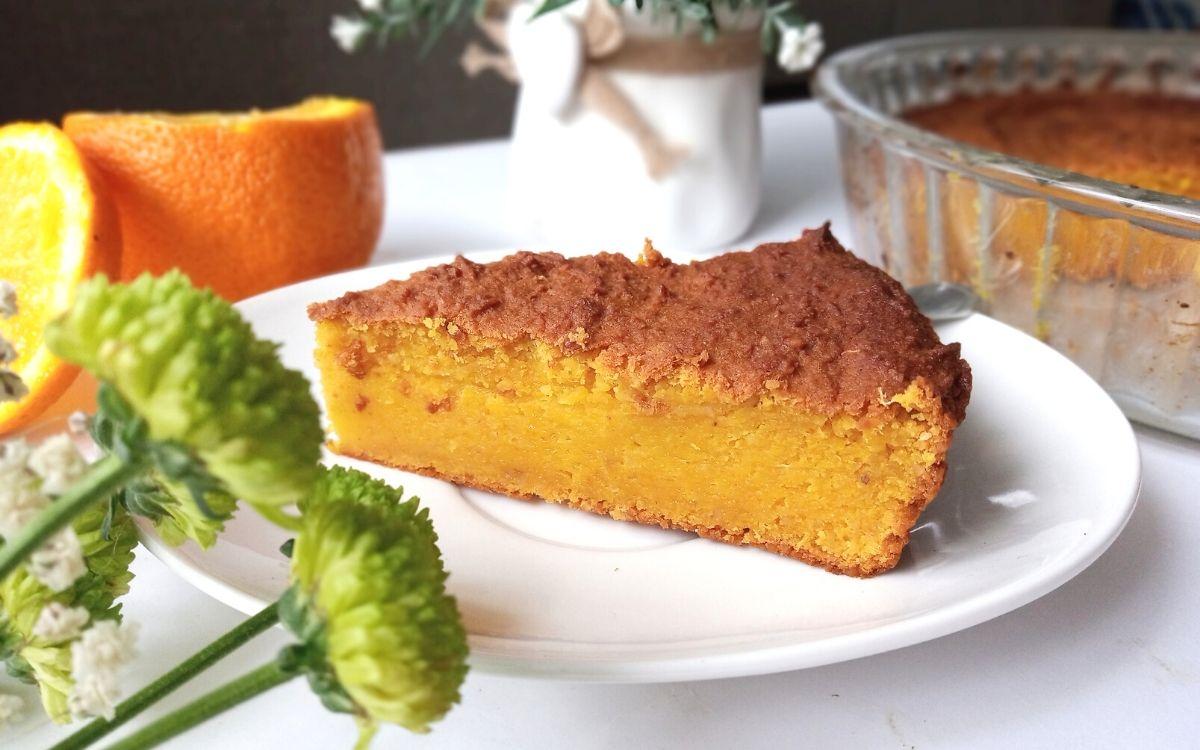Przepis na ciasto pomarańczowe bez mąki i bez nabiału